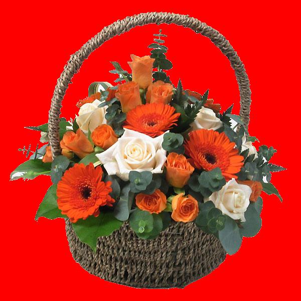 Panier De Fleurs Fraîches : Tube panier de fleurs